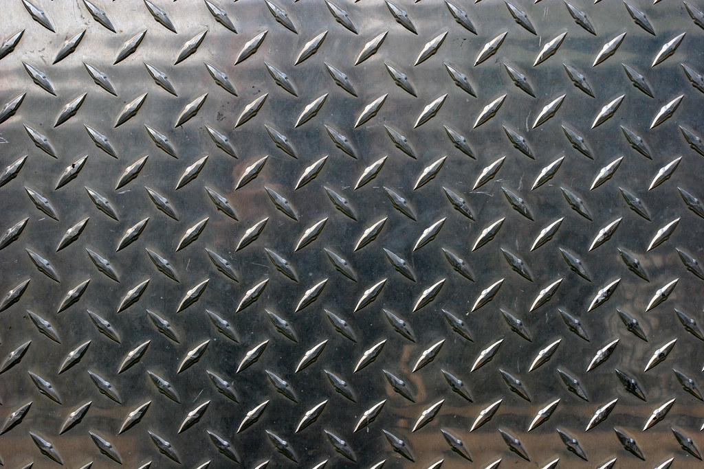 Diamond Cut Metal Closeup Of Diamond Cut Pattern On