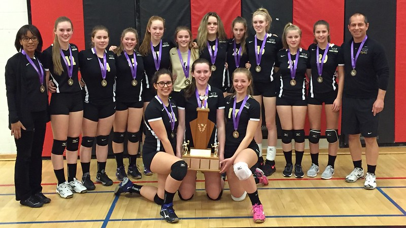 2016-17 Junior Girls Volleyball Champions: Dundas Valley Gryphons