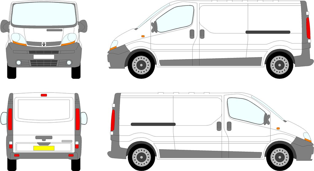 Renault trafic vauxhall vivaro lwb tailgate 00 08 flickr for Van sign writing templates
