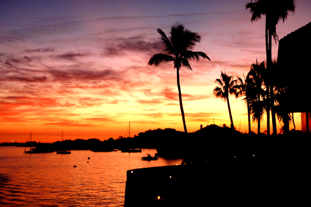 sunset; Hamilton, Bermuda | The sunset as seen from our