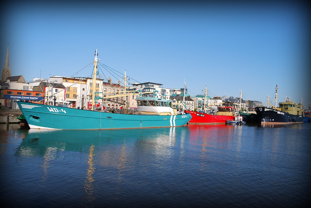 Wexford Quay Mussel Dredgers Mussel Dredgers At Wexford