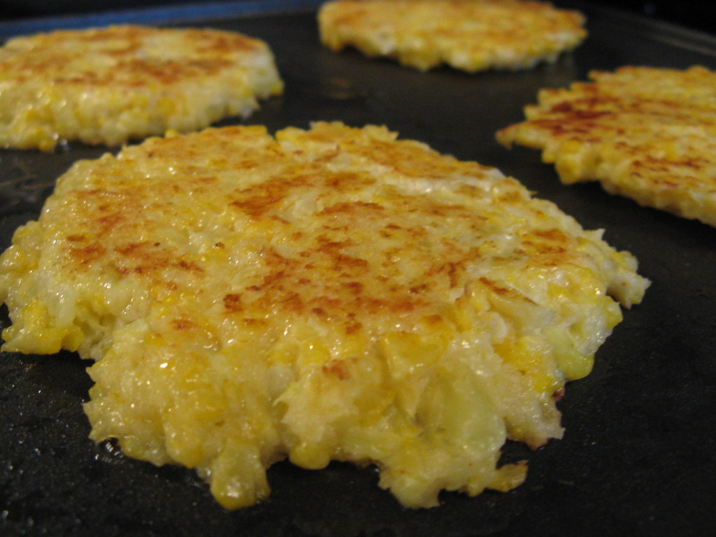 Cheesy Cauliflower Pancakes | Flickr - Photo Sharing!
