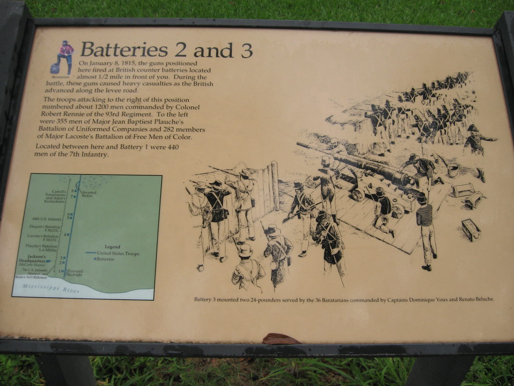 ... Batteries 2 and 3, Chalmette Battlefield, War of 1812, Battle of New  Orleans