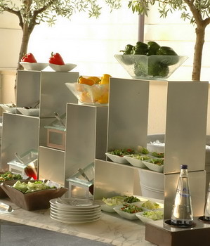 Buffet Idea With Buffet Stands And Elevations For Glass Sa