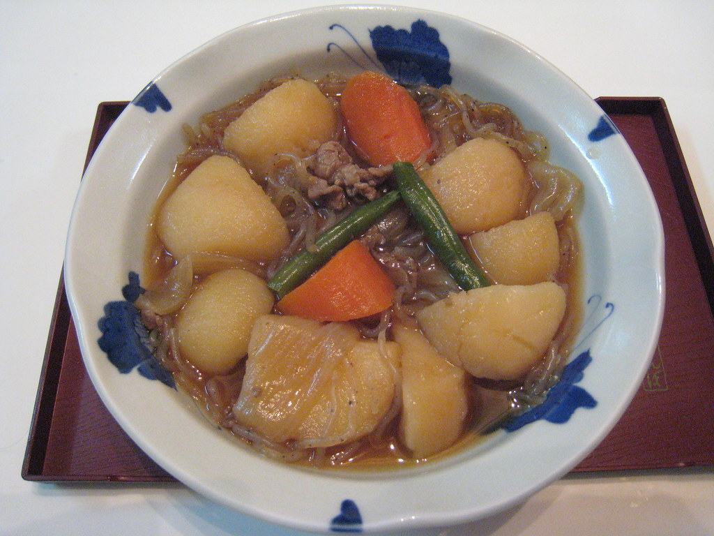 Nikujaga | Japanese beef and potato stew. A soy flavored ...