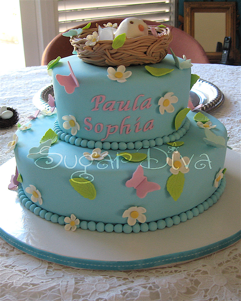Bird Nest Cake | Baby Shower Cake made to resemble the party… | Flickr
