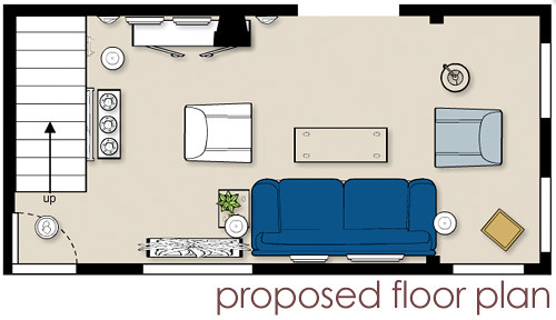 Proposed living room floor plan blogged about today for One level living floor plans