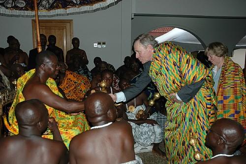 Otumfuo Nana Osei Tutu II Seated in state the Asantehene Otumfuo Nana OseiTutu II