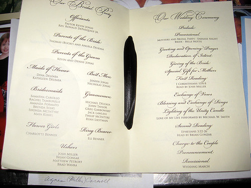 Kevin Amp Danielle Jonas Wedding Program Natural Disaster