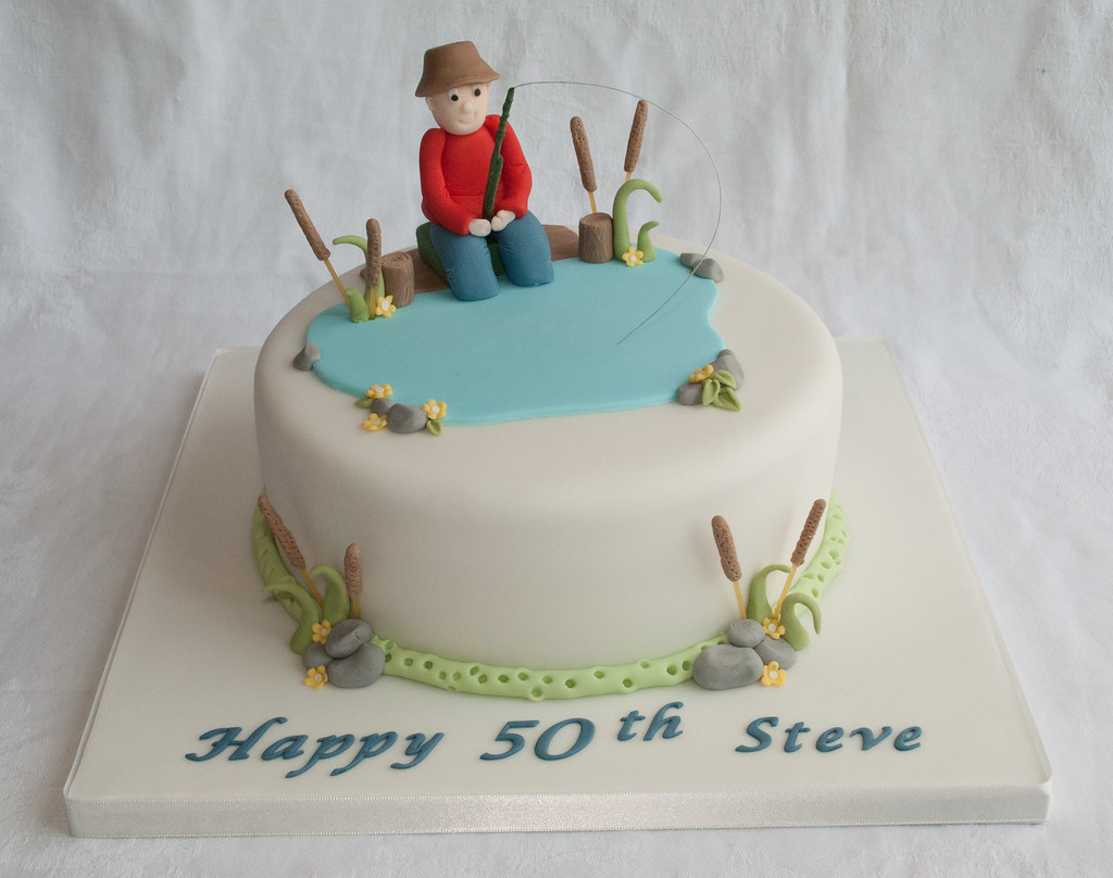 Fishing Birthday Cake wwwthecustomcakeshopcouk To keep Flickr