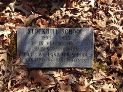 Stock Hill School Marker