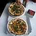 Rosso Pizza in Santa Rosa: Burrata, Sausage and Rabe on top and Tomato and Pesto below