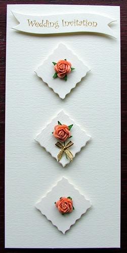 Wedding Invitation Idea Triple Rose Theme