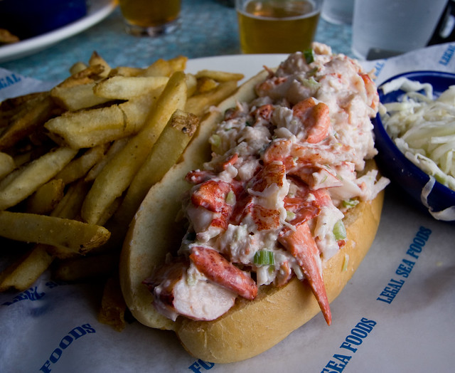 Lobster Roll, Legal Seafood, Boston