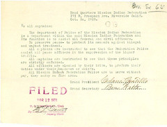 Letter from Adam Castillo to All Captains, 10/30/1925 | by The U.S. National Archives