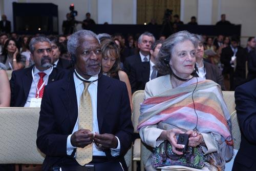Kofi and Nane Annan | Mr. Kofi Annan with his wife, Nane ...