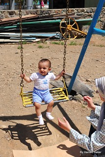 A 1 Year Old Girl in Playground | by Hamed Saber