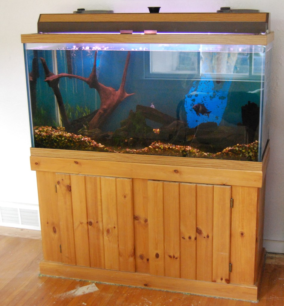 For sale 90 gallon fish tank with stand 2 filters for 90 gallon fish tank stand