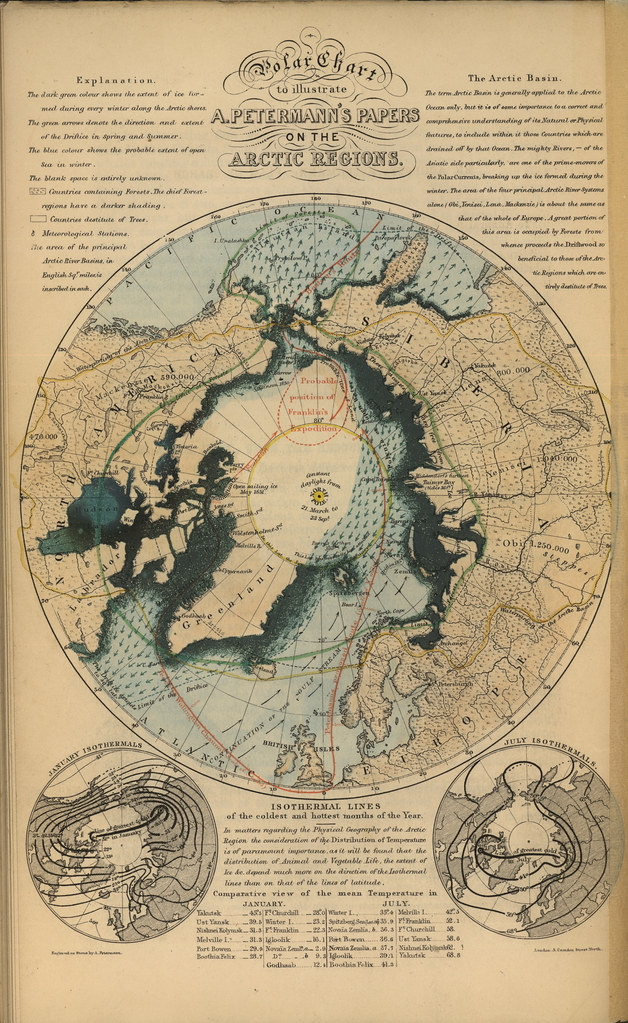 Polar Chart to Illustrate A Petermanns Papers on the Arc  Flickr