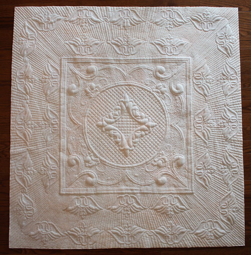 Quilting Trapunto Designs : ManQuilter s WholeCloth Trapunto Quilt This is the wholecl? Flickr