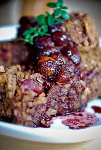 Vegan Haggis Loaf with Ground Cherry Sauce | by swellvegan
