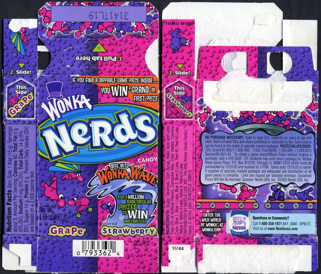 Wonka nerds mascot