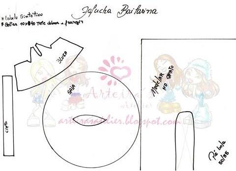 Molde de fofuchas bailarina - Imagui