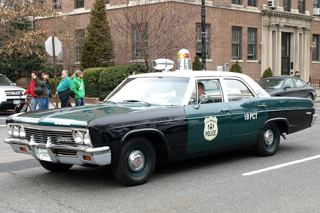 Vintage NYPD Chevrolet Biscayne Police Car, Brooklyn, New ...