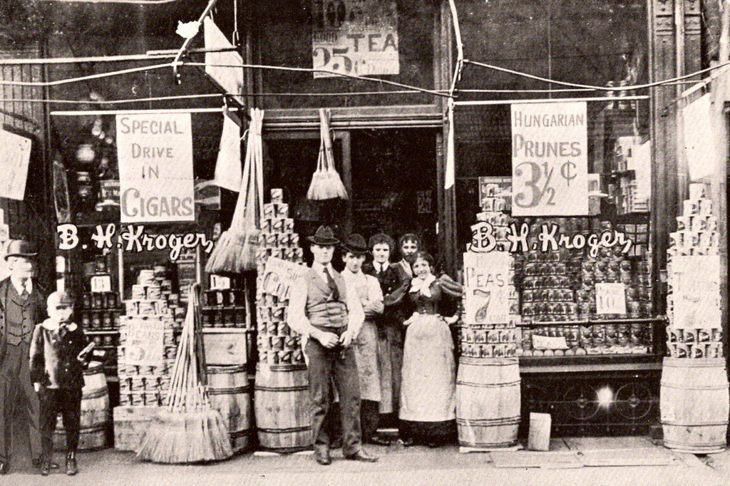 an introduction to the history of the kroger company Free essay: company background according to the kroger business web page, in 1883 barney kroger invested his life savings of $372 to open a grocery store at.