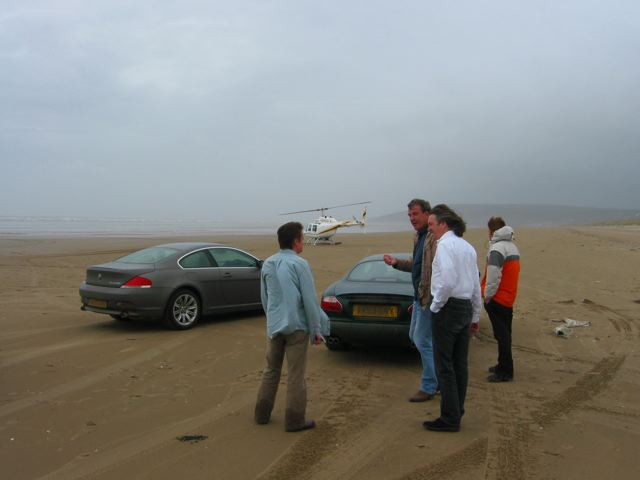 Top Gear Amp Pendine Sands The Top Gear Team The Cars Bmw