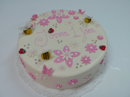 little girls 1st birthday cake by cake amsterdam cakes by zobot