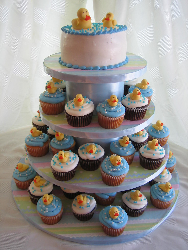 Ideas For Baby Shower Cakes Or Cupcakes : Duck Baby Shower Cake & Cupcakes Duck Baby Shower Cake ...