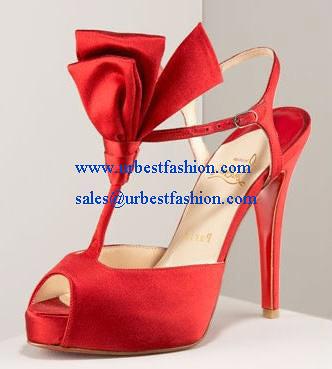 250482ab580 Christian Louboutin Ernesta T-Strap Satin red sandal