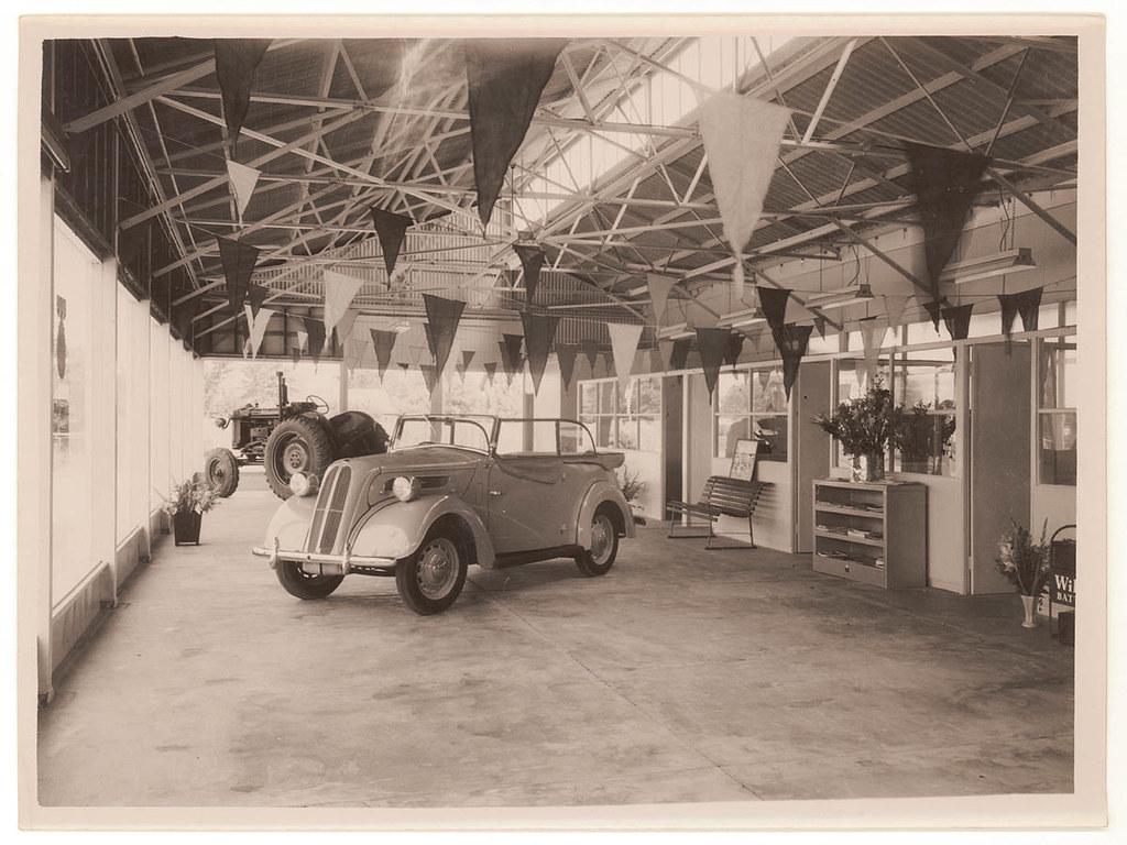 Ford car showroom, Sydney, c. 1950, by Sam Hood | Format: Ph… | Flickr