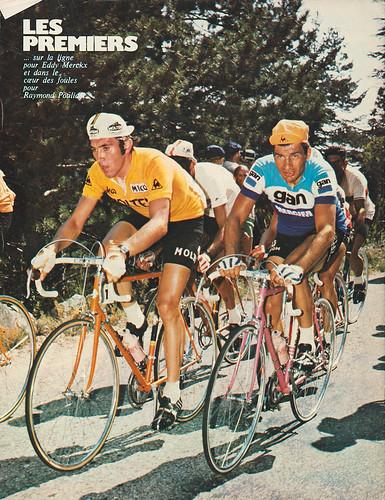 Poulidor and merckx eddy merckx raymond poulidor for Miroir du cyclisme