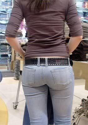 Sexy women in tight jeans