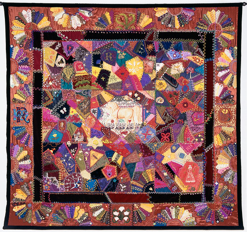 Crazy Quilt With Grandmother's Fans | by Robyne Melia is Bobby La