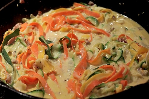 fettucine...or VEGETABLES? you be the judge | by michelle@TNS