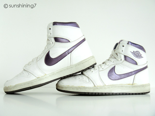 17c9159b761 ... buy sunshining7 nike air jordan i 1 og 1985 white metallic purple f8f91  7ac6c