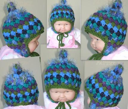 Pdf Crochet Pattern Timothy Earflap Winter Hat Scrap Yarn Flickr