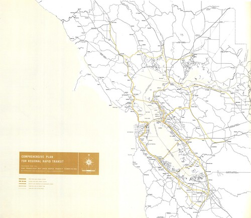 Comprehensive Plan for Regional Rapid Transit, prepared for the San Francisco Bay Area Rapid Transit Commission, 1956 | by Eric Fischer