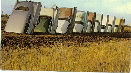 Pc Cadillac Ranch Texas 1974 The Real Art Before