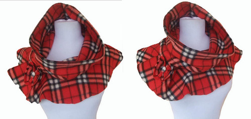 Plaid Neck warming Cowl | by RebeccasArtCloset