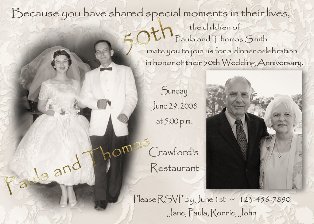 Fiftieth Wedding Anniversary Invitations: Custom Photo 50th Custom Photo Collage Multi Photo Wedding