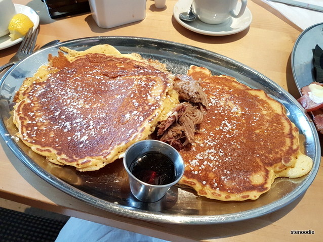 Pulled Pork Pancakes with Jack Daniels Maple Syrup