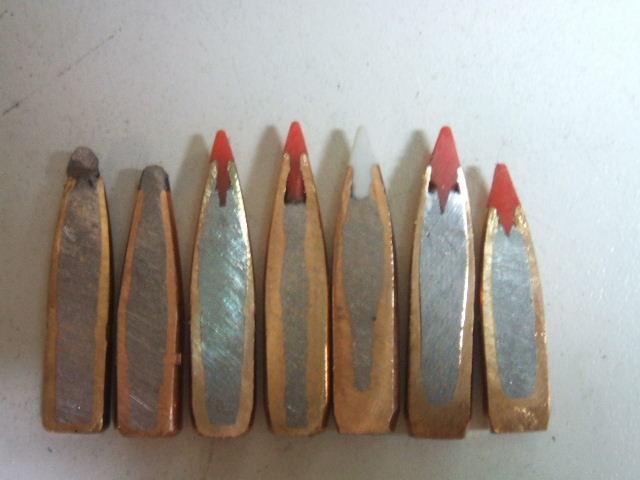 Cross Sections 7mm Bullets 150gr Win Pp 139gr Hornady Sp