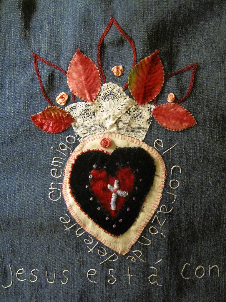 Sacred Heart Of Jesus Embroidery Applique Day 4 EXPLORED | Flickr