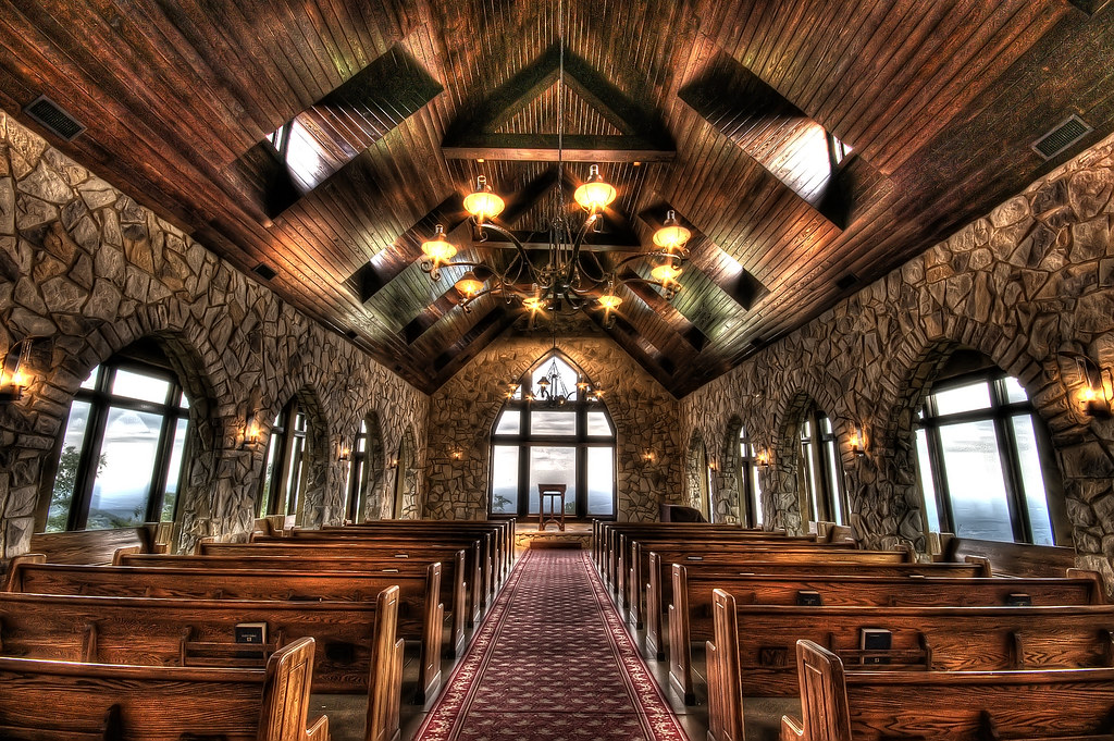 Glassy mountain chapel this chapel is host to quite a few flickr - House interior photography ...