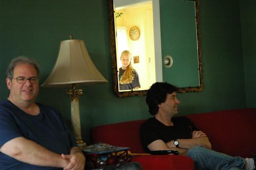 Living Room Mirror Wallpaper