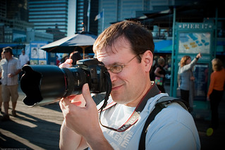 Donald Hanson / People Photographing People Photographing People by NewMindSpace, South Street Seaport, NYC / 20090919.10D.54179 / SML | by See-ming Lee (SML)